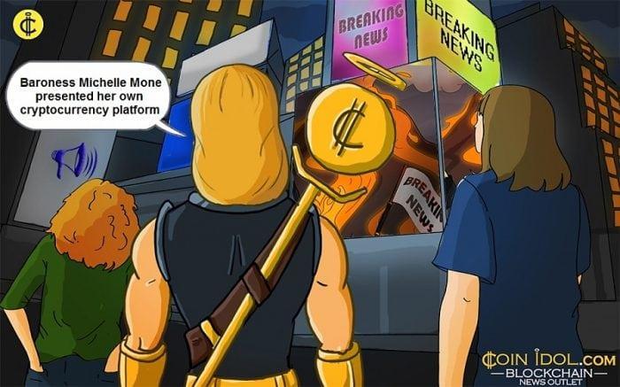 Michelle Mone presented cryptocurrency platform
