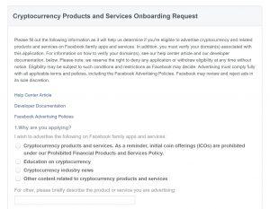 Facebook Unbans Cryptocurrency Ads