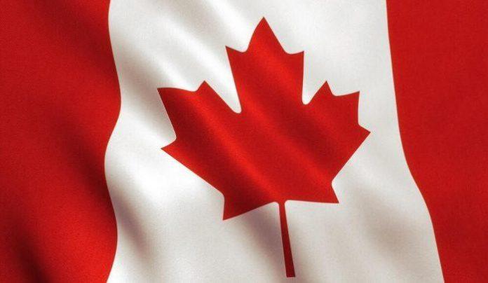 A Waving Canadian Flag