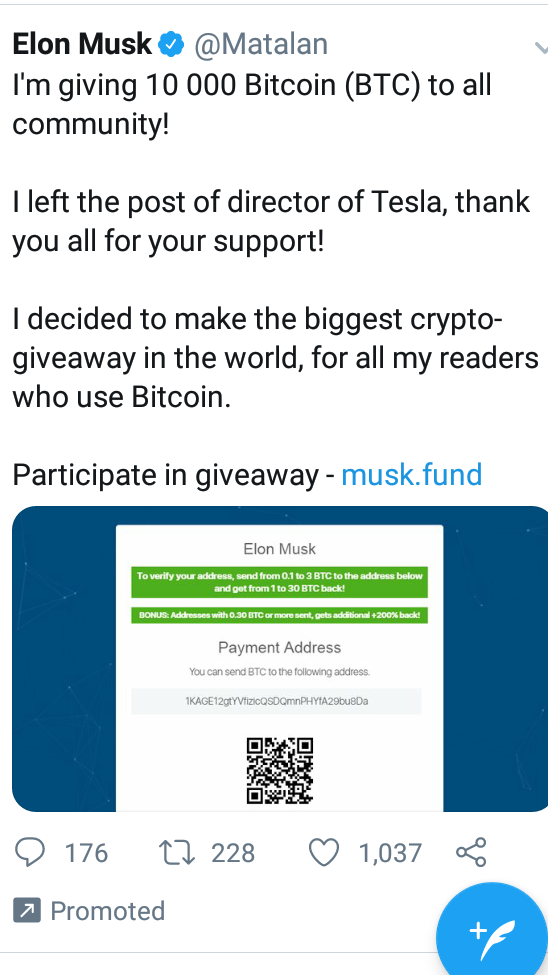 New Wave of Faux Elon Musk Accounts Run Bitcoin Scams on Twitter