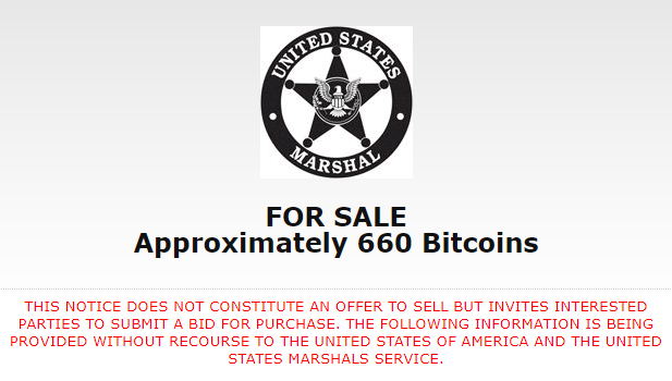 Bitcoin Auction Latest for U.S. Marshals Service