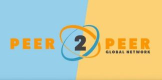 Logo of the p2p global network for press release