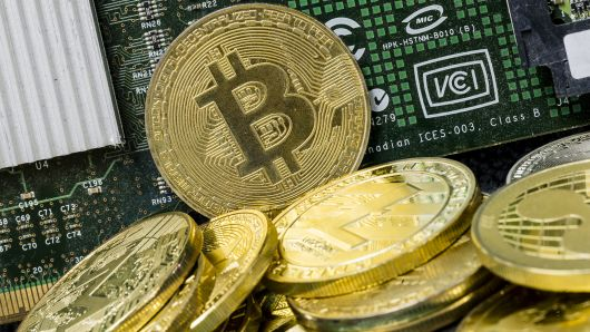 A photo illustration of the digital Cryptocurrency, Bitcoin, is seen on September 13 2018 in Hong Kong, Hong Kong.