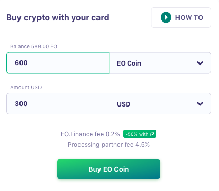buy bitcoin with bank card using eo.finance