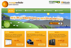 Orange website hosting from Iceland who accepts bitcoin