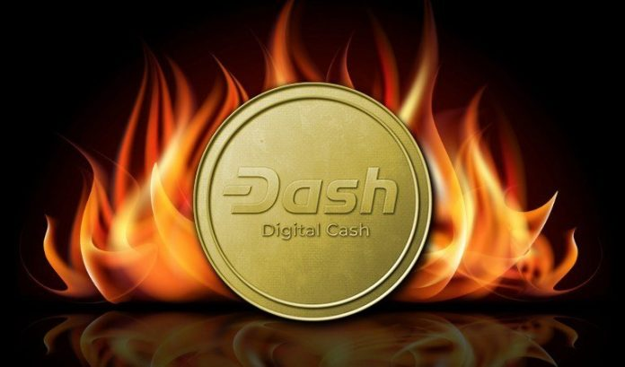 Dash Coin on fire