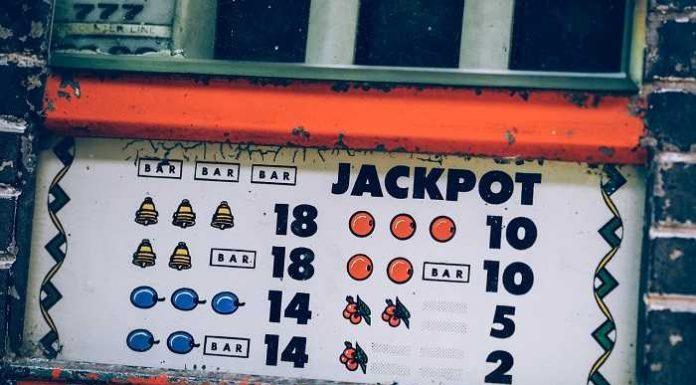 an orange looking slot machine