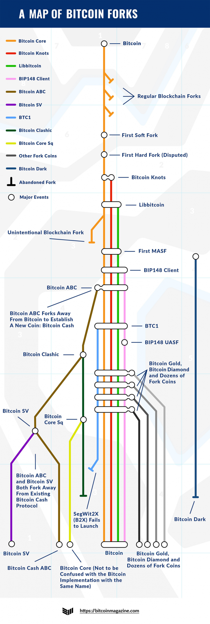 Mapping All The Major Bitcoin Forks
