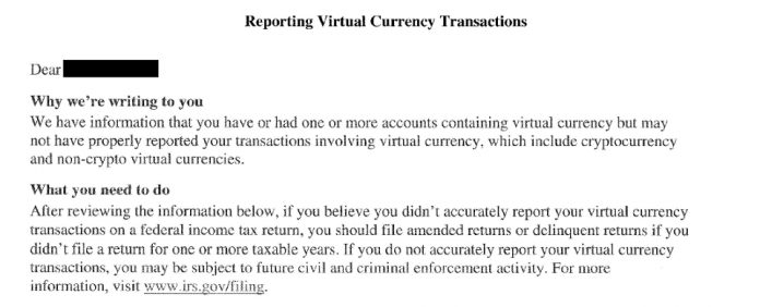 "IRS Sends 1000s Of ""Fishing"" Letters To Crypto Users"