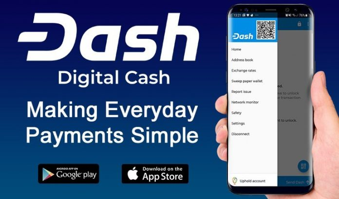 Uphold Integrated Into Dash iOS Wallet Following Withdrawal Fee Removal