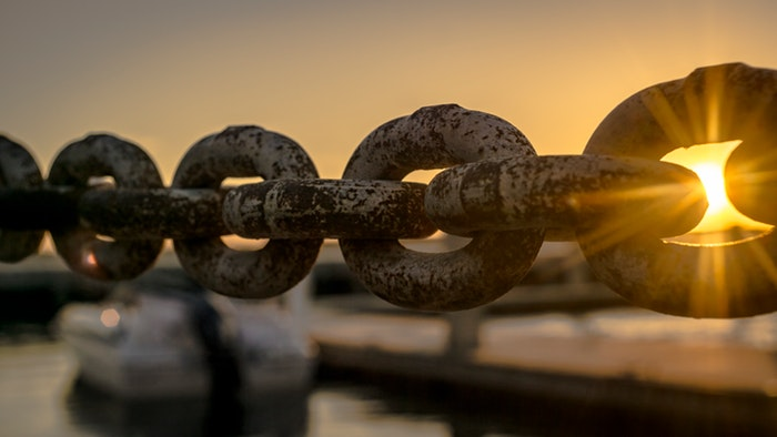 boat chain dawn