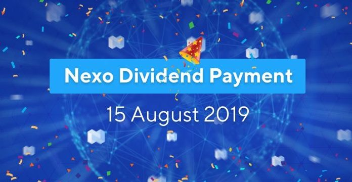 nexo token pays dividends to holders