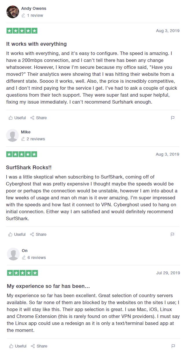 surfshark vpn reviews