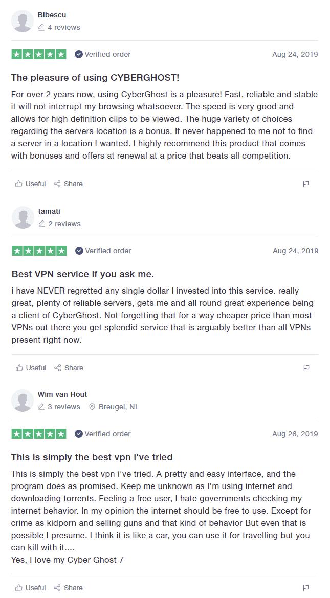 CyberGhost VPN Reviews