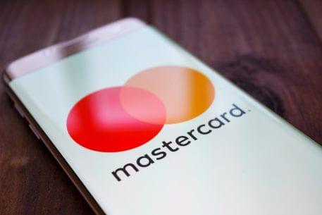 mastercard logo on a mobile screen