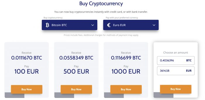 buy crypto with a bank card - coinmama