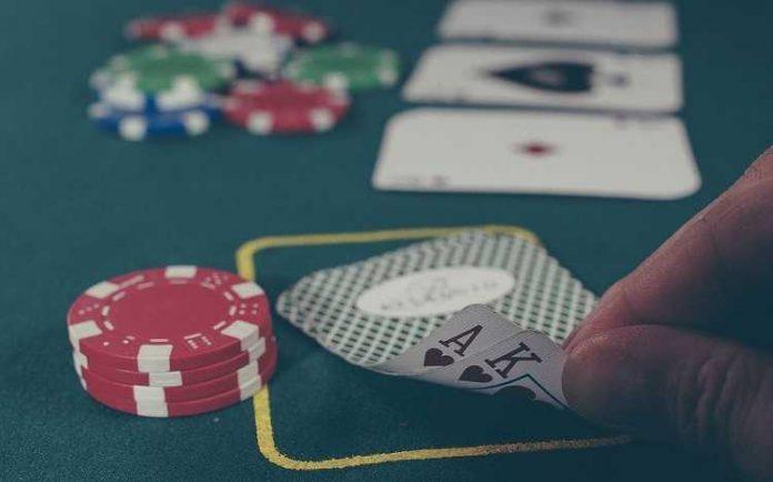 black jack table gambling