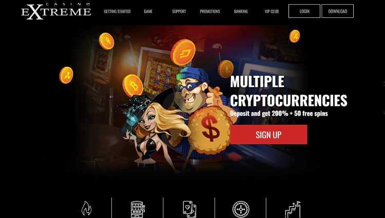 Casino Extreme Homepage