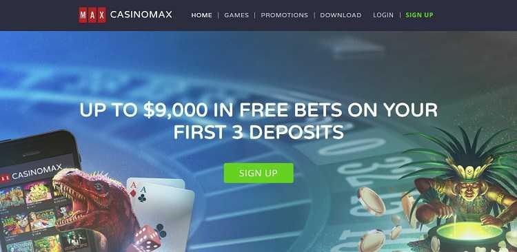 Casino Max - Bitcoin Casino - Homepage