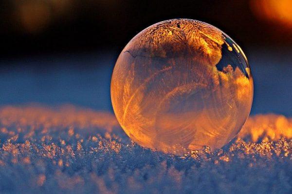 a golden bubble