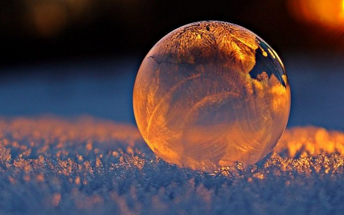 a golden bubble