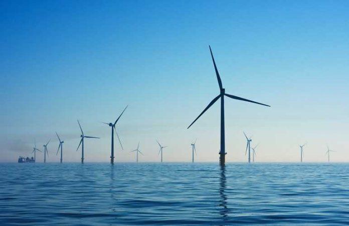 wind energy farm in the sea