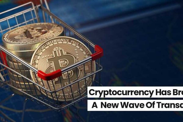 bitcoins in a shopping cart