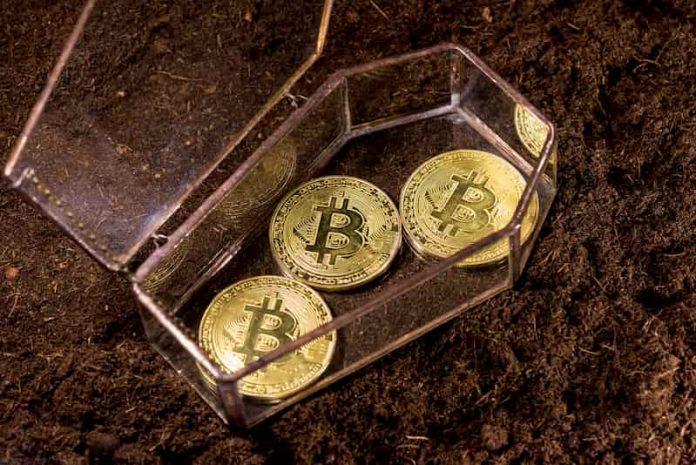 bitcoin in a coffin