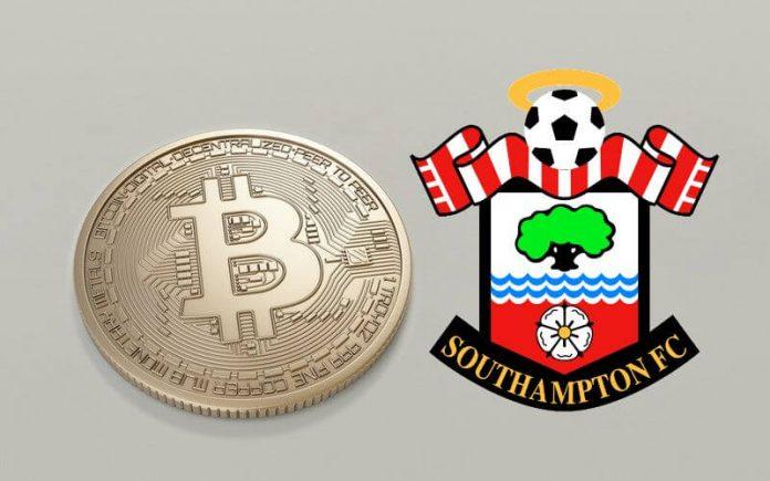 southampton logo next to a bitcoin