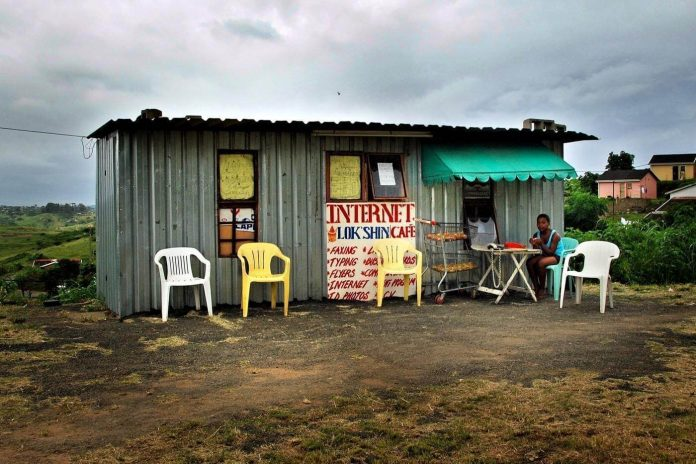 Image of a hut in a third world country